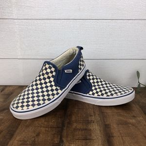 VANS Slip on checkerboard shoes Youth Size 4